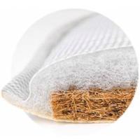Ортопедический двухслойный матрас из прессованного кокосового волокна и специального поролона с эффектом памяти.