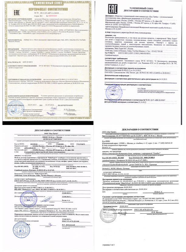 фото европейского сертификата anex